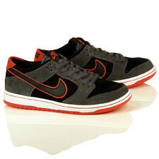 "Nike SB Dunk Low (Ishod Wair) ""Dark Grey/Black-Red"" Mens Skate Shoes, 895969-006"