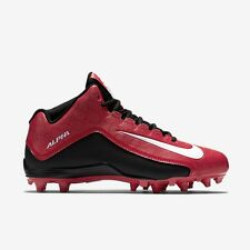 NIKE ALPHA PRO  FOOTBALL CLEATS-RED W/BLACK BRAND NEW-SIZE 9.5 -RETAIL $110