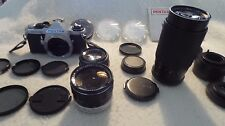 PENTAX ME SUPER CAMERA BUNDLE WITH MANY ACCESSORIES, FILTERS & LENSES