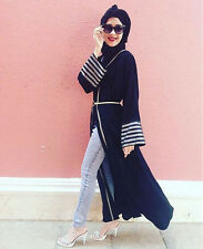 Dubai Kaftan Muslim Women Abaya Jilbab Islamic Cardigan Long Sleeve Maxi Dress