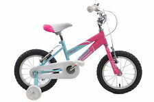 """AMMACO 14"""" MISTY GIRLS BIKE AGE 4 YEARS + BMX PINK AND BLUE WITH STABILISERS"""
