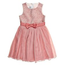 Bonnie Jean Brocade Pink Dress 7-16 Tulle ballerina Spring Wedding Party Holiday