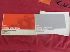 Harley Davidson Sportster xl1000 xlch1000 1977 owner's manual  #2