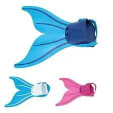 Kids Mermaid Swimming Flipper Tails Fin Monofin Girls Toy Swimmable Costume O0H2