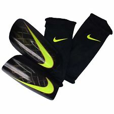 NIKE MERCURIAL LITE Soccer SHINGUARD Shin Guard Black Gold Volt MANY SIZES