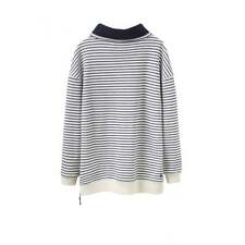 JOULES HOLKHAM FUNNEL NECK STRIPED TOP SIZE 12 NAVY/CREAM (02)