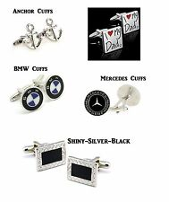 Stainless Steel Mens Cuff Links Anchors Cuff Links Love My Dad Cuff Links