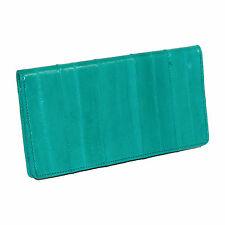 New MJ Masters Women's Eel Skin Checkbook Cover and Card Holder