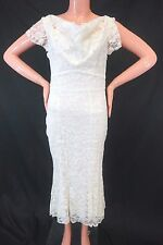 NWT Stop Staring Women's/Juniors Ivory Open-Back Floral Lace Dress Size 6