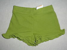 Gymboree BATIK SUMMER Green Ruffle Basic Knit Shorts NWT