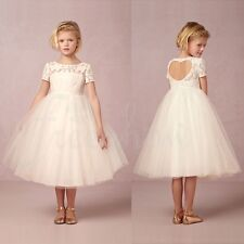 Kids Girls Communion Prom Princess Pageant Bridesmaid Birthday Party Dress Gown