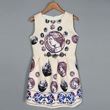 Fashion European and American Style Women Round Neck Sleeveless Print OO5501