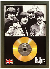 THE BEATLES - SIGNED PHOTO WITH YOUR CHOICE OF GOLD DISC