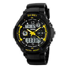 Mens Analog Digital LED Date Day Stopwatch Military Sport Quartz Wrist Watch