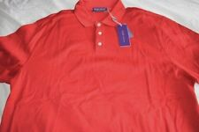 $350 NWT PURPLE LABEL Ralph Lauren RED XL XXL cotton pique short sleeve shirt