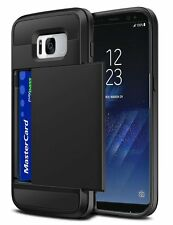 Slim Armour Hybrid Case Cover with Credit Card Slot For Samsung Galaxy S8, S8+