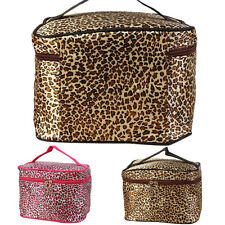 Leopard Print Cosmetic Bag Women Travel Makeup Pouch Toiletry Organizer Eager
