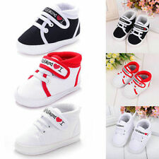 Newborn Infant Toddler Baby Boy Girl Kids Soft Sole Crib Shoes Sneaker 0-18M