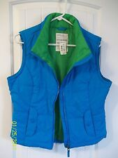 Aeropostale Puffer Vest Women Girls Blue Large New With Tag