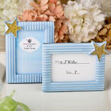 Blue and Gold photo frame /  placecard frame from PartyFairyBox / FC-8390
