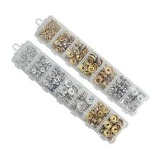 Box Assorted Silver Gold Crystal Rondelle Spacer Bead Charm Jewelry Making Craft