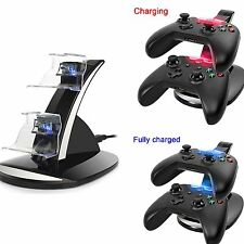 LED Light Dual Controllers Charging Stand Dock Station Charger for Xbox One/Slim