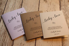 10 Personalised Rustic Lottery,scratchcard card/holder wedding favour hearts