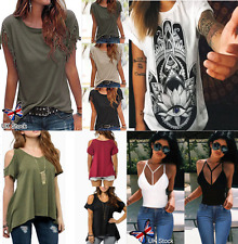 Womens Summer Loose Top Short Sleeve Blouse Ladies Casual Tops T-Shirt Plus Size
