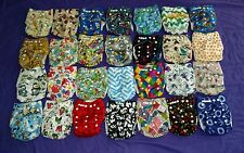 Lot of 28 New Boys Tagless ALVA Cloth Pocket Diapers With Double Gussets