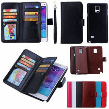 Luxury Magnetic 9 Card slot PU Leather Flip Wallet Case Cover For iPhone 7 Plus