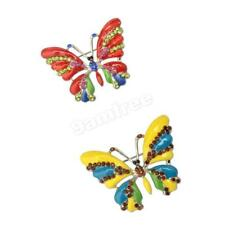 Enamel Rhinestone Crystal Animal Butterfly Brooch Pin Unisex Party Jewelry Gift