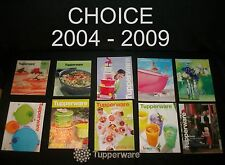 Tupperware Catalog CHOICE ~Issues from Holiday 2004 to 2009 ~New and Nearly New
