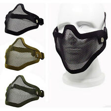 Strike Metal Mesh Protective Mask Half Face Tactical Airsoft Military Mask ab
