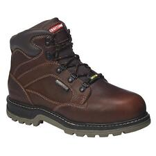 Craftsman Mens Krypt Brown Leather Steel Toe Work Boot Slip Resistant waterproof