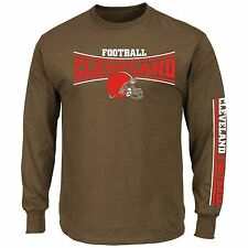 Cleveland Browns Majestic Primary Receiver Long Sleeve Tee - NWT - FREE SHIPPING