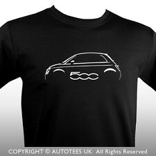 FIAT 500 INSPIRED CLASSIC CAR T-SHIRT - AUTOTEES