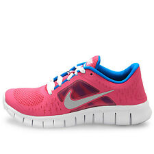 NIKE Free Run 3 GS FUSION PINK Silver Blue Shoes NIB Girls Youth Size 4.5 / 36.5