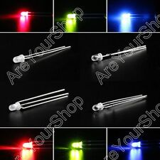 LED 3mm Dual Bi-Color Water Clear Diffused Bright Common Cathode Anode Diode