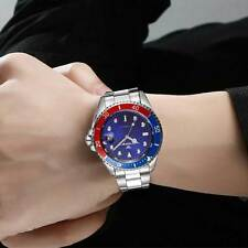 Mens Date Analog Stainless Band Automatic Silver Wrist Mechanical Watch Fashion