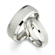 His & Her Matching Anniversary Silver Titanium Rings Engrave GMUS092B1
