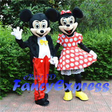 Factory New Mickey & Minnie Mouse Mascot Costume Dress Adult Size Party Cosplay