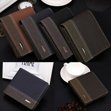 Mens ID Credit Card Leather Bifold Money Holder Wallet Coin Purse Clutch Pockets