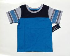 Boys Short Sleeve Shirt Cotton Football Tee Blue (Size 4 - 7) NWT