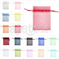 50/100/200pcs Premium Gift Organza Bag Wedding Jewelery Favor Pouches 9x12cm OBS