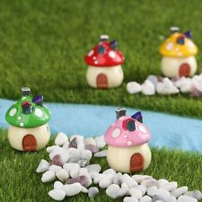 Miniature Lovely Mushroom Houses Fairy Garden Decor Mini Dollhouse Landscaping