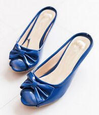 SALE womens ladies 5 color slingbacks low mid heels Peeptoe bowknot sandals