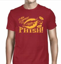 Phish Pollock Unplugged S, M, L, XL, 2XL Cardinal T-Shirt