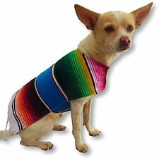 Handmade Dog Poncho from Authentic Mexican Blanket - Dog Clothes - Sweater -