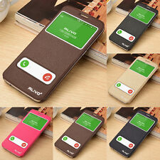 Luxury View Window Slim Flip PU Leather Cover Case Skin For Samsung Galaxy