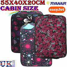2 Wheeled Luggage Travel Cabin Suitcase Bag Trolley Ryanair Easyjet Flight Bags